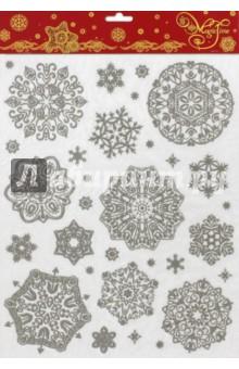 Украшение новогоднее оконное (38641)Аксессуары для праздников<br>Новогоднее оконное украшение.<br>Декорировано глиттером.<br>Размер: 30х38 см.<br>Предназначено: декор.<br>Материал: ПВХ пленка.<br>Сделано в Тайване.<br>
