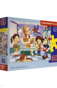 Puzzle-60 MIDI Ветеринар (В-06847)Пазлы (54-90 элементов)<br>Пазл-мозаика.<br>Способствуют развитию образного и логического мышления, наблюдательности, мелкой моторики и координации движений руки.<br>Размер собранной картинки: 32х23 см<br>Количество элементов: 60<br>Материал: картон.<br>Правила игры: вскрыть упаковку и собрать игру по картинке.<br>Для детей от 5-ти лет.<br>Не давать детям до 3-х лет из-за наличия мелких деталей.<br>Сделано в Польше.<br>