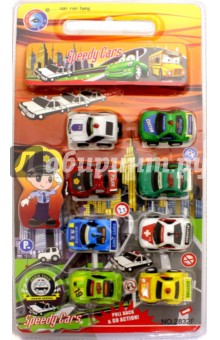 Набор инерционных машинок (8 штук) (2832F) дрофа медиа набор инерционных машинок speedy cars 8 шт