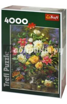 Trefl. Puzzle-4000 Цветы для Королевы Елизаветы (45003)Пазлы (2000 элементов и более)<br>Пазл-мозаика.<br>Количество элементов: 4000<br>Размер готовой картинки 96 х 136 см.<br>Материал: картон, бумага<br>Упаковка: картонная коробка.<br>Сделано в Польше.<br>
