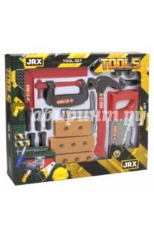 Набор инструментов Мастер на все руки (63951)Строительные инструменты<br>Набор строительных инструментов.<br>В комплекте 18 предметов: болты, гайки, шурупы, молоток, пила, уровень, бруски, отвертка, гаечный ключ.<br>Материал: пластмасса.<br>Упаковка: картонная коробка.<br>Сделано в Китае.<br>