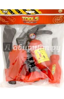 Набор пожарного Защитник (63961)Играем в профессии<br>Игровой набор пожарного Защитник изготовлен из пластика. В него входит молоток, топорик, отвертка, с помощью которых пожарный может попасть в горящую квартиру. Также в наборе идет огнетушитель, рация и другие предметы, необходимые во время выезда на помощь людям. Игровой комплект позволит моделировать разные ситуации и сюжеты.<br>Материал: пластмасса.<br>Упаковка: пакет с подвесом.<br>Для детей от 3 лет.<br>Сделано в Китае.<br>