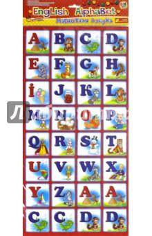 Магнитная азбука ENGLISH ALPHABETБуквы на магнитах<br>Карточки на магнитах подходят для обучения и развития детей как дома, так и в детском саду или школе. Играя, ребенок в легкой и веселой форме получит новые знания и навыки, необходимые в дальнейшей деятельности, а простые игровые элементы дадут возможность самому придумывать варианты игр.<br>