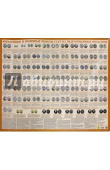 Юбилейные и памятные монеты СССР. Настольное изданиеМонеты. Банкноты<br>Юбилейные и памятные монеты СССР из недрагоценных металлов. Настольное справочное издание.<br>Издание имеет двустороннюю ламинацию.<br>Формат 590х430 мм.<br>