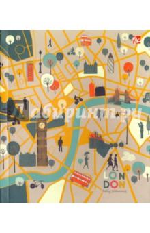 """Ежедневник недатированный """"Карта Лондона"""" (128 листов, А5, инт) (ЕЖИ17512810) Эксмо-Канц"""