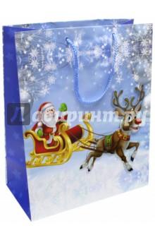 Пакет новогодний ламинированный (264х327 мм) (L-3D 046)Подарочные пакеты<br>Пакет ламинированный. <br>Размер: 264х327х136 мм.<br>Сделано в Китае.<br>