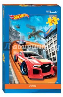 Step Puzzle-24 maxi Hot Wheels (90029)Пазлы (15-50 элементов)<br>Пазл-мозаика Maxi.<br>Количество элементов: 24<br>Размер собранной картинки: 50 х 34,5 см.<br>Материал: картон.<br>Упаковка: картонная коробка.<br>Сделано в России.<br>