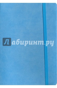 Записная книга на резинкеГолубая (96 листов, 145х205) (43532)Записные книжки большие (формат А5 и более)<br>Записная книга.<br>Закрывается на резинку.<br>Количество листов: 96.<br>Разлиновка: клетка.<br>Крепление: книжное.<br>Ляссе.<br>Сделано в Китае.<br>