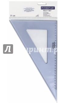 """Треугольник """"Mars 567"""" (пластиковый, 60°/30°, 31 см) (56731-60) STAEDTLER"""