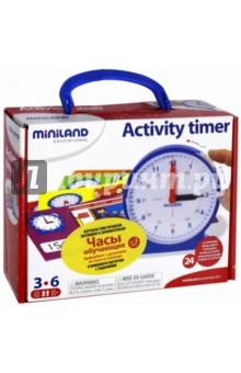Часы обучающие (95282) Miniland Educational