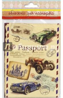 "Обложка для паспорта ""Ретро автомобили"" (44516) Феникс-Презент"