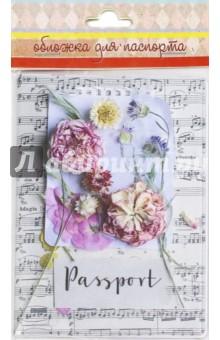 """Обложка для паспорта """"Ноты и цветы"""" (44562) Феникс-Презент"""