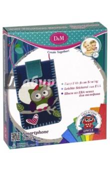 Шьем чехол для мобильного телефона из EVA Совенок (60749)Шитье, вязание<br>Набор для изготовления чехла.<br>В комплекте: 19 элементов для изготовления чехла, стразы - 3 шт., застежка на липучке - 1 шт., пластиковая игла - 1 шт., шнурок белого цвета - 1 шт., шнурок розового цвета - 1 шт., бантик - 1 шт.<br>Изготовлено из пластмассы  ( в том числе вспененной с клеевым слоем), с элементами из текстильных материалов.<br>Не рекомендовано детям младше 3-х лет. Содержит мелкие и острые детали.<br>Для детей старше 5-ти лет.<br>Сделано в Китае.<br>