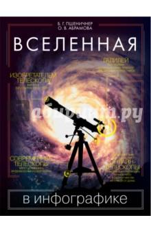 Вселенная в инфографикеФизические науки. Астрономия<br>Человек увлечен астрономией на протяжении многих веков, с тех пор как он в порыве любознательности впервые поглядел на небо…<br>Трудно вообразить себе масштабы Вселенной… Книга Вселенная в инфографике содержит интереснейшую информацию по астрономии, она познакомит вас с космическими объектами и покажет, как они связаны друг с другом, а также поможет тем, кто хочет начать самостоятельные исследования. Просто и наглядно о сложном - в инфографике!<br>