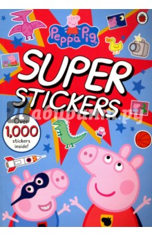 Peppa Pig Super Stickers. Activity BookЛитература на иностранном языке для детей<br>This is an amazing new Peppa Pig activity book with an incredible 1000 stickers!<br>This bumper book is packed with stickers of Peppa, George and all their family and friends. Solve puzzles, colour and draw, and even find out how to make your very own dinosaur - this book contains plenty of Peppa activities to keep little ones busy for hours.<br>
