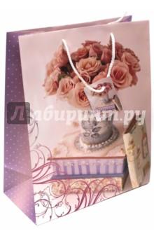 """Пакет бумажный """"Ваза с розами"""" (26х32,4х12,7)(44203) Феникс-Презент"""