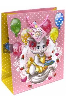 """Пакет бумажный """"Кошечка"""" (26х32,4х12,7) (44201) Феникс-Презент"""