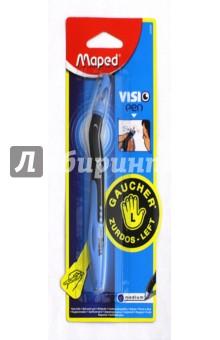 Ручка шариковая Visio (синие чернила) (224320)Ручки шариковые простые синие<br>Ручка шариковая.<br>Для левшей.<br>Специальная форма.<br>Цвет чернил: синий.<br>Сделано в Китае.<br>