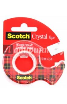 Клейкая лента(19х7,5м, прозрачная, на диспенсере) (225930)Лента клейкая тонированная<br>Клейкая лента на диспенсере.<br>Многофункциональная, идеально подходит для ламинации документов и упаковки подарков.<br>Долго хранится, не желтеет.<br>Прочная, не слоится, легко отрывается. <br>Размер: 19 мм х7,5 м.<br>Цвет: прозрачный.<br>