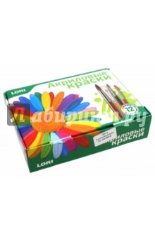 Краски акриловые (12 цветов) (Акр-003)