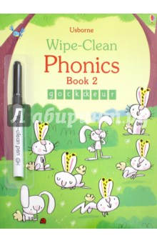 Wipe-Clean Phonics Book 2Литература на иностранном языке для детей<br>A friendly introduction to basic letter-sounds, helping children learn to write letters and simple words by writing over the dotted lines with the special pen provided. Wipe-clean and repeat until practise makes perfect! Fully supports the UK Government s Letters and Sounds programme and phonics teaching in schools.<br>