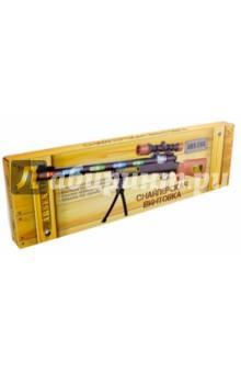 Снайперская винтовка с подставкой (ARS-266(DQ-2289))Игровое оружие<br>Игрушка, имитирующая оружие.<br>Электромеханическая, со световыми и  звуковыми эффектами.<br>Реалистичный звук выстрела.<br>Световые эффекты при стрельбе.<br>Имитация лазерного прицела. <br>Вибрация при стрельбе.<br>Работает от 3-х батареек типа АА (В комплект не входят). <br>Изготовлено из пластмассы.<br>Не рекомендовано детям младше 3-х лет. Содержит мелкие детали.<br>Сделано в Китае.<br>