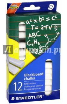 Мелки для доски белые (12 штук) (2350)Мелки школьные<br>Мелки для доски.<br>Цвет: белый.<br>Количество: 12.<br>Сделано в Германии.<br>