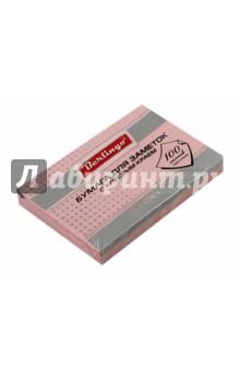 Бумага для заметок с клеевым краем(пастельный розовый, 100 листов, 76x51 мм) (HN7651R) Berlingo