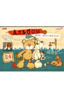"""Альбом для рисования, 24 листа """"Любимые мишки"""" (24А4В_15219) Хатбер"""