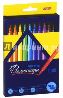 Фломастеры Premium (10 цветов) (BFk_10840)Фломастеры 12 цветов (9—14)<br>Фломастеры.<br>В наборе 10 цветов.<br>Предназначены для рисования на бумаге.<br>Смываемые чернила.<br>Трехгранный корпус.<br>Блокируемый наконечник - 2,3 мм.<br>Не рекомендуется детям до 3-х лет.<br>Сделано в Китае.<br>