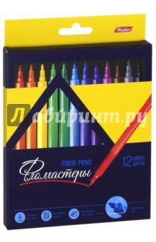 Фломастеры Premium (12 цветов) (BFk_12840)Фломастеры 12 цветов (9—14)<br>Фломастеры.<br>В наборе 12 цветов.<br>Предназначены для рисования на бумаге.<br>Смываемые чернила.<br>Трехгранный корпус.<br>Блокируемый наконечник - 2,3 мм.<br>Не рекомендуется детям до 3-х лет.<br>Сделано в Китае.<br>