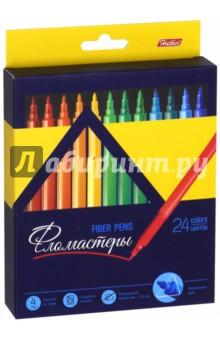 Фломастеры Premium (24 цвета) (BFk_24840)Фломастеры 24 цвета (21—30)<br>Фломастеры.<br>В наборе 24 цвета.<br>Предназначены для рисования на бумаге.<br>Смываемые чернила.<br>Трехгранный корпус.<br>Блокируемый наконечник - 2,3 мм.<br>Не рекомендуется детям до 3-х лет.<br>Сделано в Китае.<br>