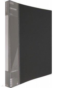 Папка на 2 кольцах, пластиковая STANDARDLlINE 2-RING BINDER, черная (2AB4_00101) Хатбер