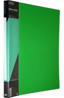 Папка с вкладышами, пластиковая, 30 вкладышей STANDARDLlINE DISPLAY BOOK, зеленая (30AV4_00107) Хатбер