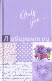 Записная книжка Сирень (96 листов, А6+) (43204)Записные книжки средние (формат А6)<br>Записная книга.<br>Количество листов: 96.<br>Разлиновка: линия.<br>Крепление: книжное.<br>Сделано в России.<br>
