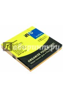 Блок-кубик для заметок, 75х75 мм, 100 листов, радуга неон микс (5654-39-pk1-b) Info Notes
