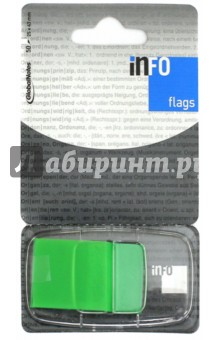 Клейкие Z закладки, пластик, 25х43 мм, 50 листов, неон зеленый (7727-99) Info Notes