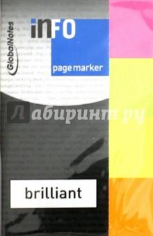 Клейкие закладки, бумага, 4 цвета, 20х50 мм, 4х40 листов (5670-39) Info Notes