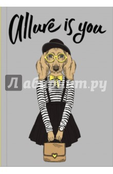 Allure is you (Блокнот для хипстеров)Блокноты большие Линейка<br>Яркие хипстерские блокноты: на обложках модные образы животных в стильной одежде.<br>