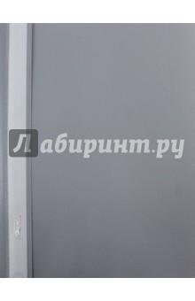 Папка-скоросшиватель пластиковая (прозрачный верх, А5, серая) (AS5_00108)