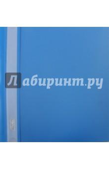 Папка-скоросшиватель пластиковая (прозрачный верх, А5, голубая) (AS5_00110)