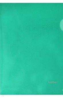 Папка-уголок пластиковая (А5, зеленая) (AG5_00104)