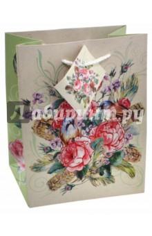"""Пакет бумажный """"Розовый куст"""" (17,8х22,9х9,8 см) (43511) Феникс-Презент"""
