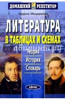 Литература в таблицах и схемах , автор Мещерякова М.М. , издатель Айрис-Пресс.