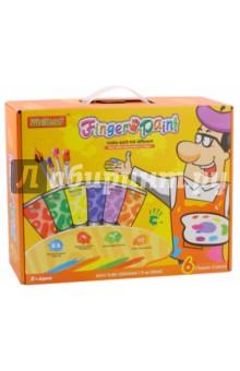 Набор Краски пальчиковые (6 цветов) (FP6606)Краски для рисования пальцами<br>Игрушка для детского творчества. <br>В комплекте: 6 красок, кисть, палитра для смешивания цветов, карандаш, губки, инструкция, бумага для рисования. <br>Материал: пластмасса. <br>Не рекомендовано детям младше 3-х лет. Содержит мелкие детали.<br>Сделано в Китае.<br>
