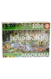 Пазл-3000 Джунгли (фрагмент) панорама (17133)Пазлы (2000 элементов и более)<br>Пазл-мозаика.<br>3000 деталей.<br>Размер собранной картинки: 144 х 68 см.<br>Материал: картон.<br>Упаковка: картонная коробка.<br>Сделано в Испании.<br>