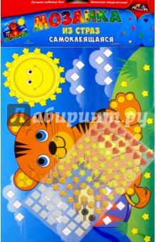 Мозаика из страз самоклеящаяся Тигренок (С3081-07)Аппликации<br>Порадуйте вашего ребенка набором для творчества Мозаика из страз. Он очень прост в использовании. На цветную картонную основу приклеивайте элементы из страз. Каждому элементу соответствует свой цвет на рисунке. Будьте внимательны, и у Вас получится замечательная объемная яркая аппликация. <br>Состав: этиленвинилацетат, бумага.<br>Не рекомендовано детям младше 3-х лет. Содержит мелкие детали.<br>Сделано в Китае.<br>