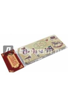 Подарочная коробочка для денег Конверт для денег. Сказочные игрушки (43673)Конверты для денег<br>Коробочка подарочная для денег.<br>Размер 16,6 х 7,6 х 1 см.<br>Материал: черный окрашенный металл.<br>Упаковка: пакет с подвесом.<br>Сделано в Китае.<br>