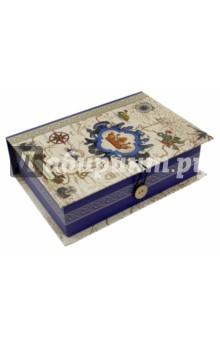Коробка подарочная ПУТЬ В НОВЫЙ СВЕТ (42373)Другое<br>Коробка подарочная.  <br> Материал: мелованного, ламинированного, негофрированного картона плотностью 1100 г/м2<br>Полноцветный декоративный рисунок на внутренней и наружной части<br>Размер 20 х 14 х 6 см.<br>Сделано в Китае.<br>