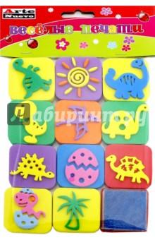 Веселые печати Динозаврики (DT-1014-8)